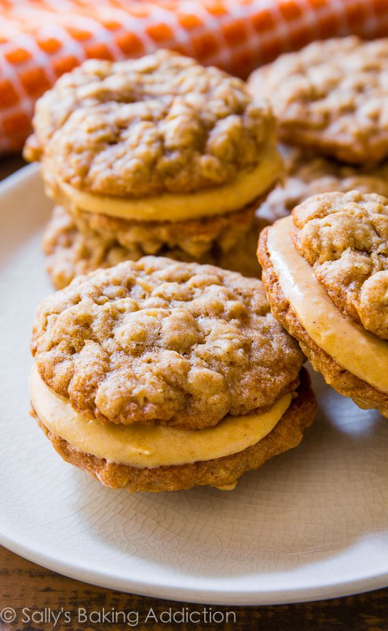 Sally's Baking Addiction Oatmeal Pumpkin Creme Pies - these are amazing any time of year!