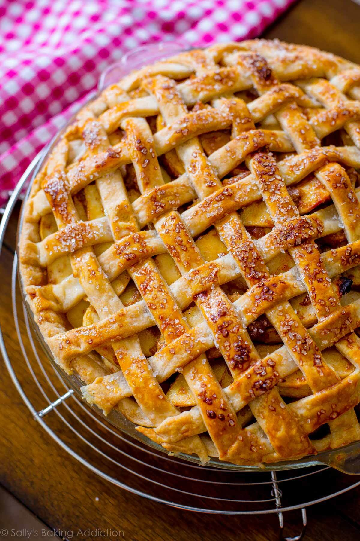 Salted caramel apple pie on sallysbakingaddiction.com