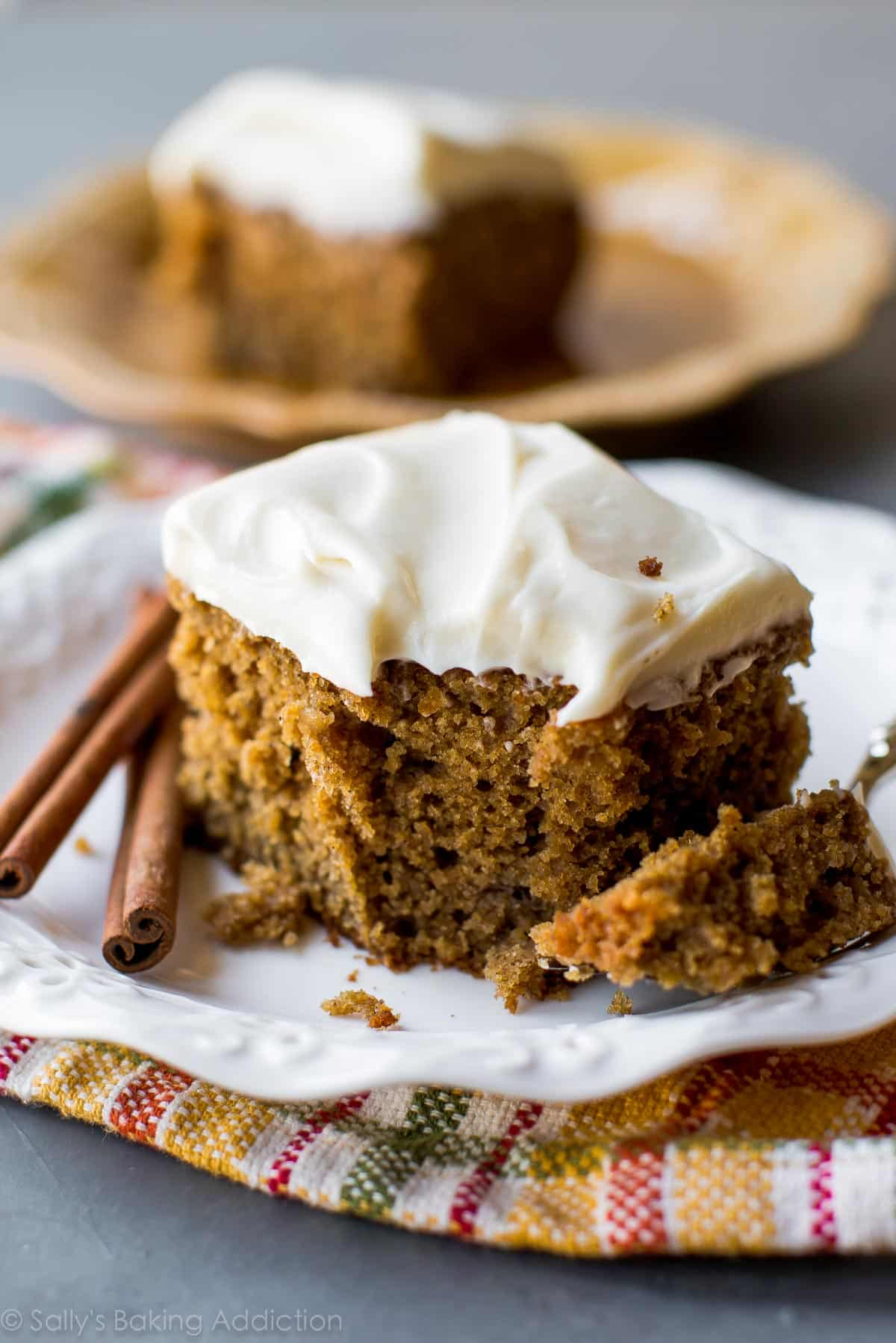 Homemade And Super Moist Spice Cake With Tangy Cream Cheese Frosting Such An Easy Recipe